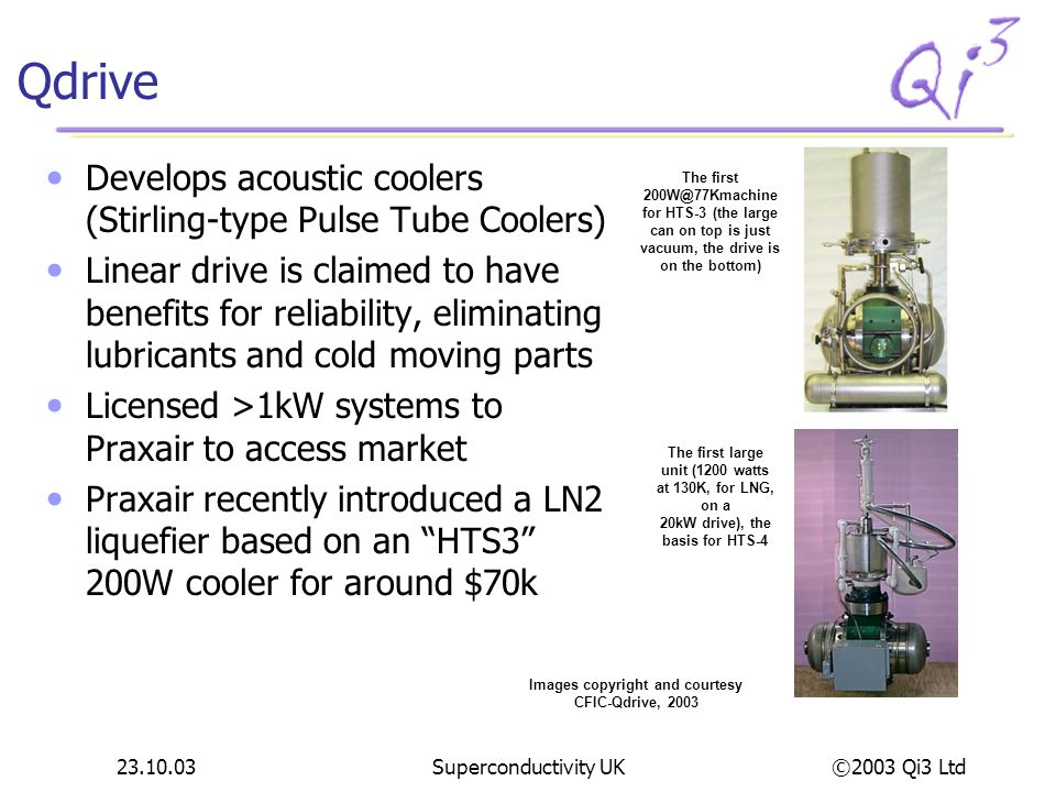Qdrive Develops acoustic coolers (Stirling-type Pulse Tube Coolers)