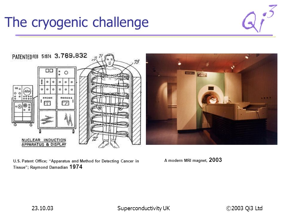The cryogenic challenge