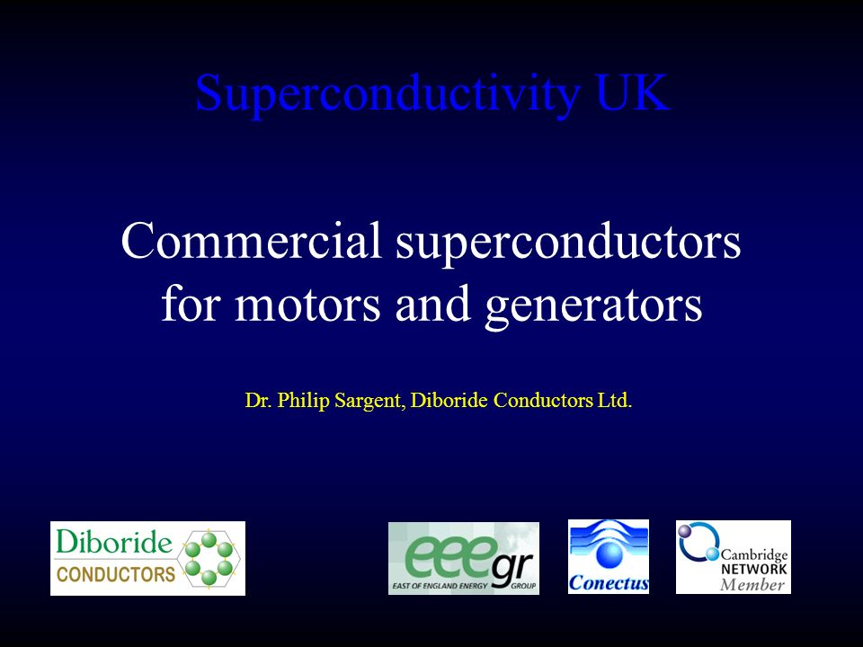 Commercial superconductors for motors and generators