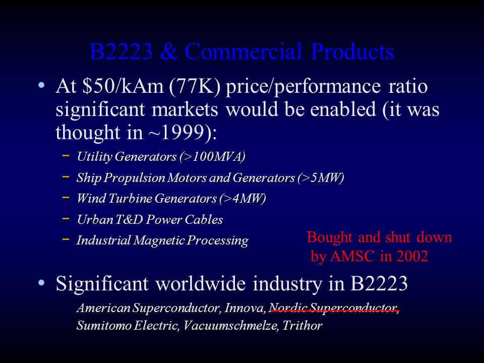 B2223 & Commercial Products