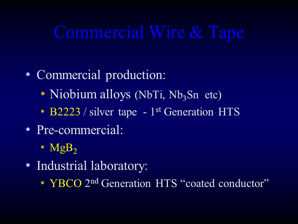 Commercial Wire & Tape Commercial production:
