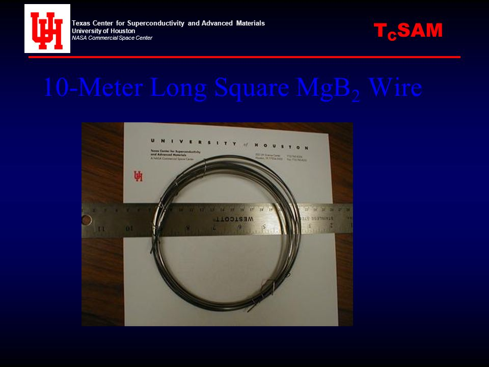 10-Meter Long Square MgB2 Wire