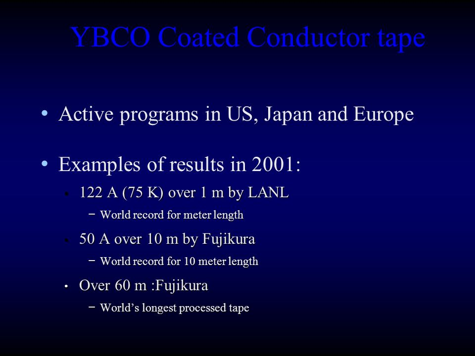 YBCO Coated Conductor tape