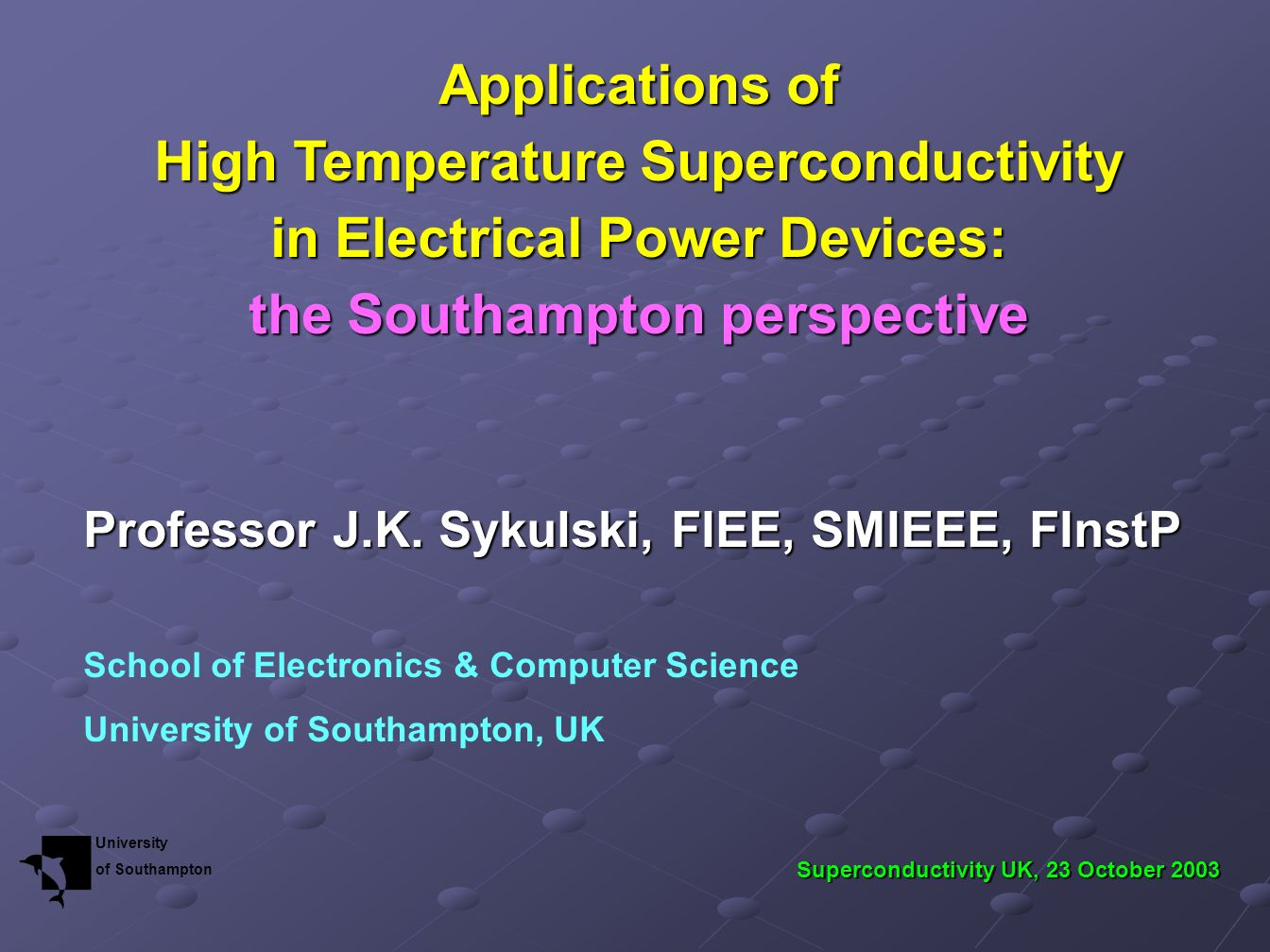 High Temperature Superconductivity in Electrical Power Devices: