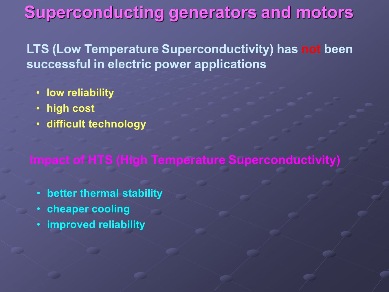 Superconducting generators and motors