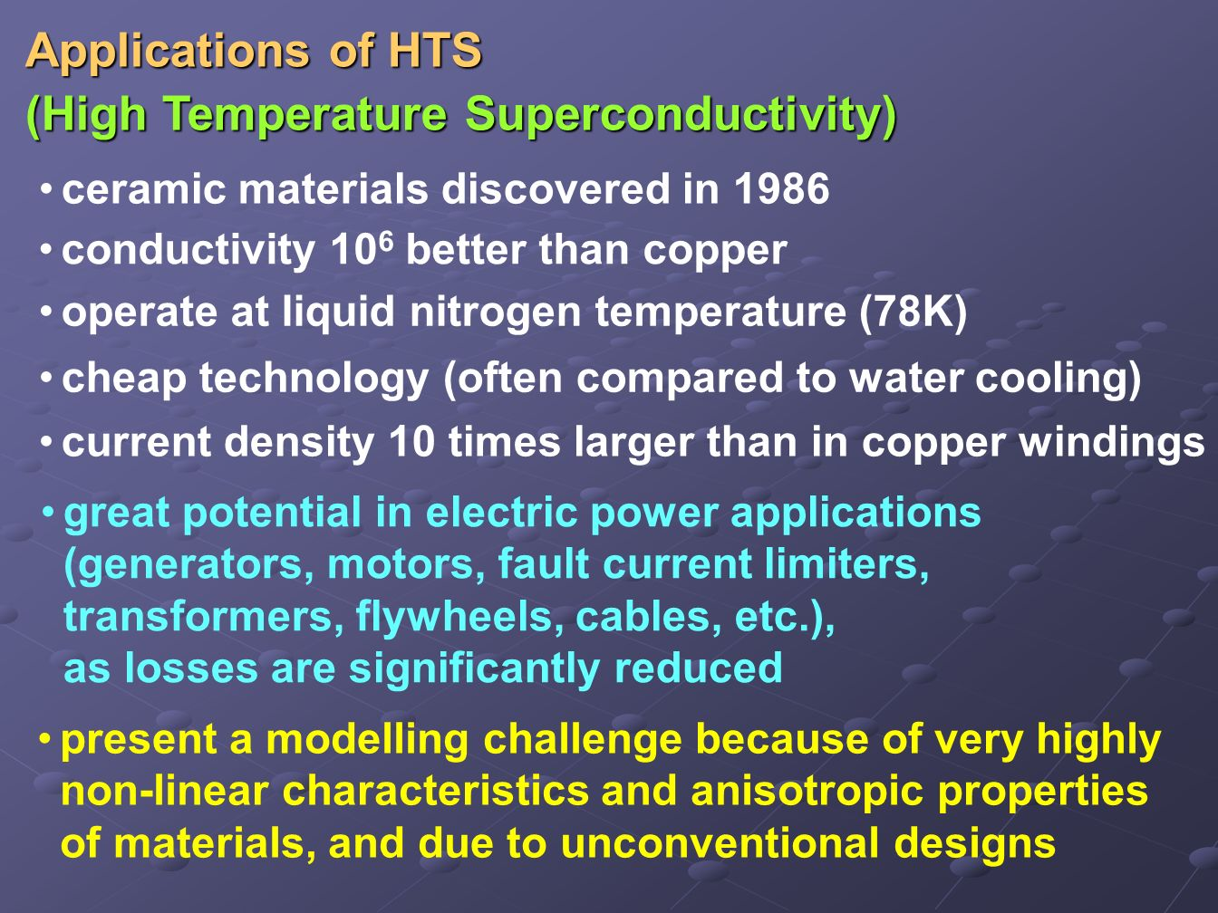 (High Temperature Superconductivity)