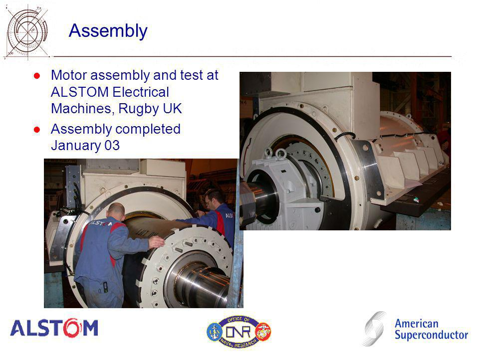 Assembly Motor assembly and test at ALSTOM Electrical Machines, Rugby UK.