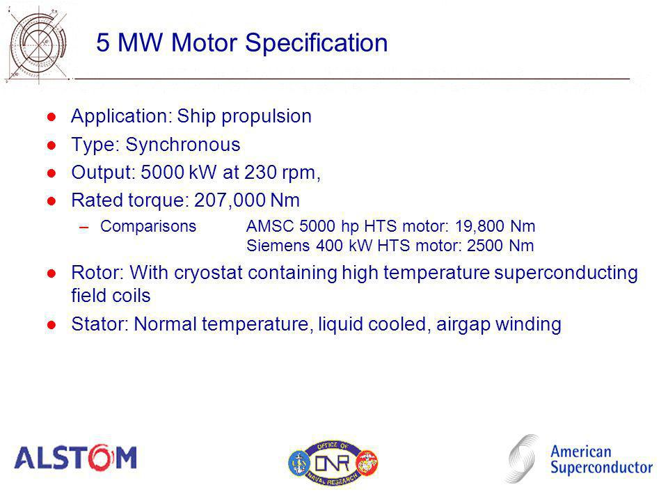 5 MW Motor Specification