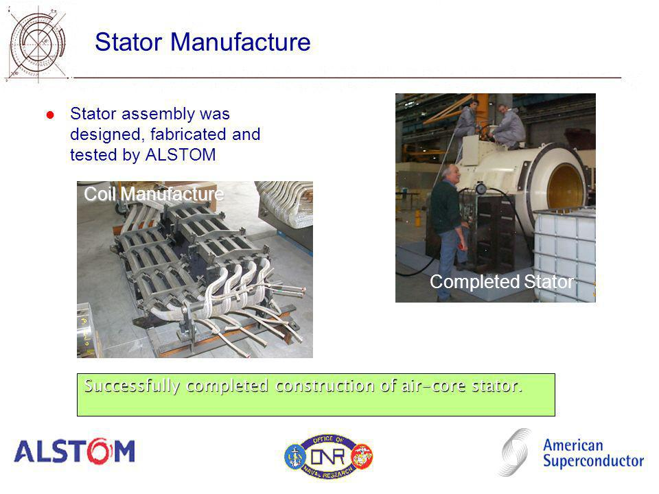 Stator Manufacture Coil Manufacture Completed Stator