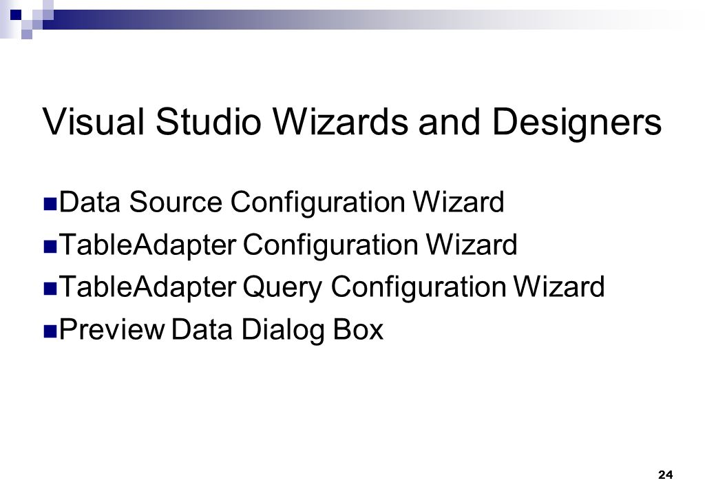 Visual Studio Wizards and Designers