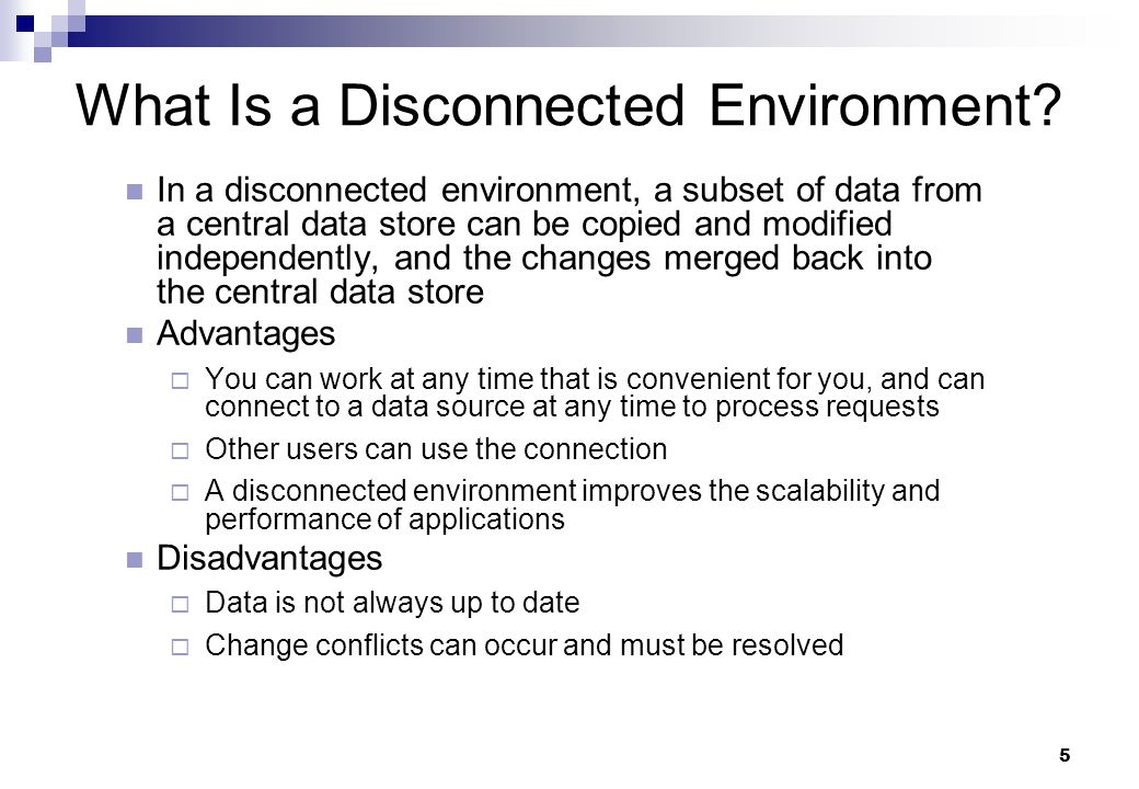 What Is a Disconnected Environment