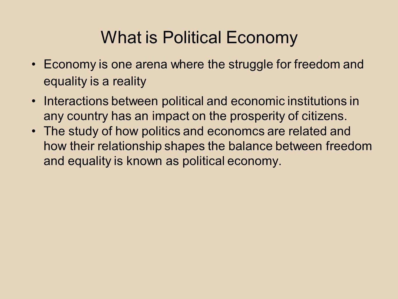 what is the relationship between economic freedom political and growth