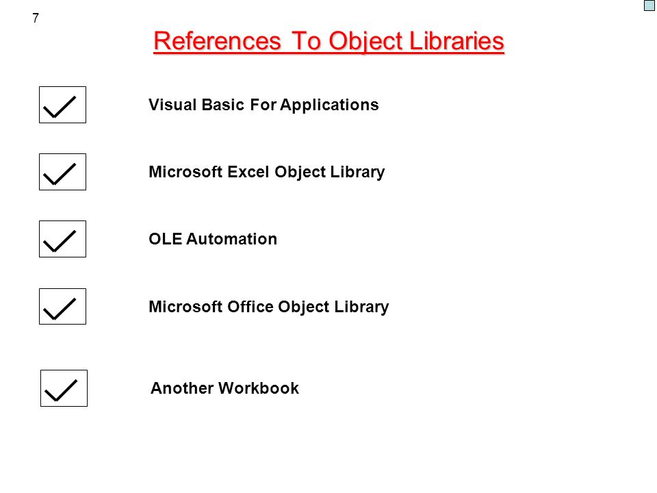 References To Object Libraries