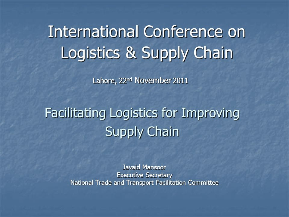 Facilitating Logistics for Improving Supply Chain
