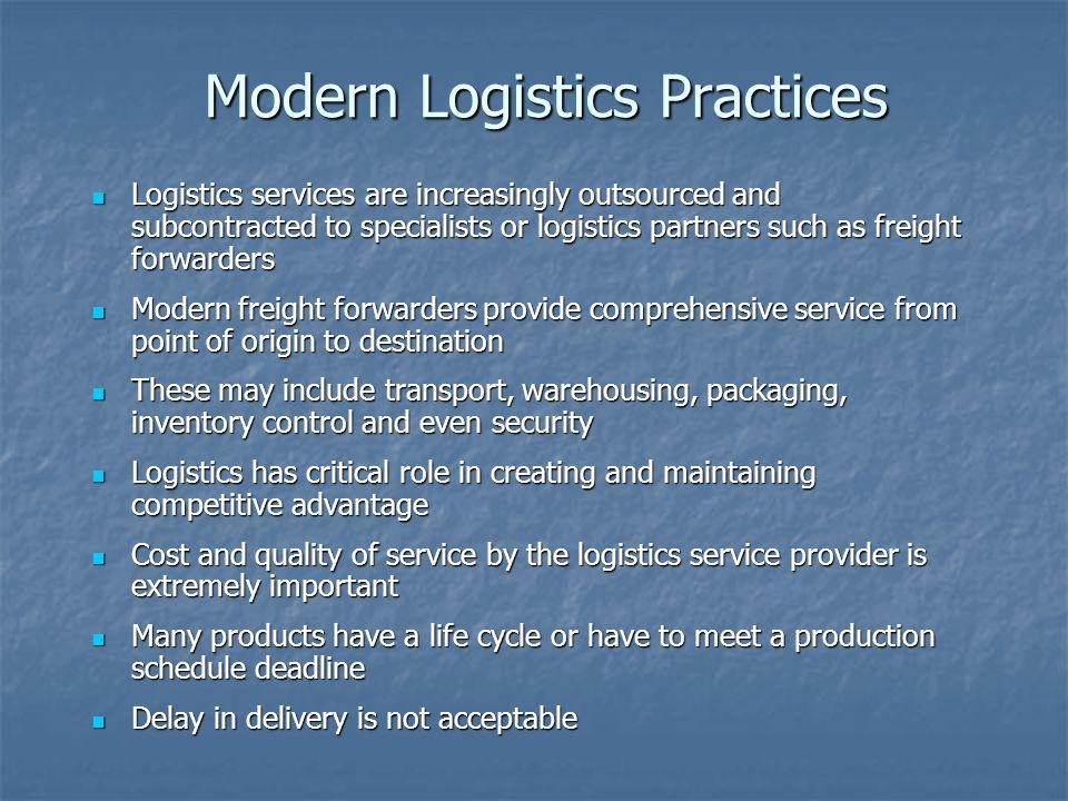 Modern Logistics Practices