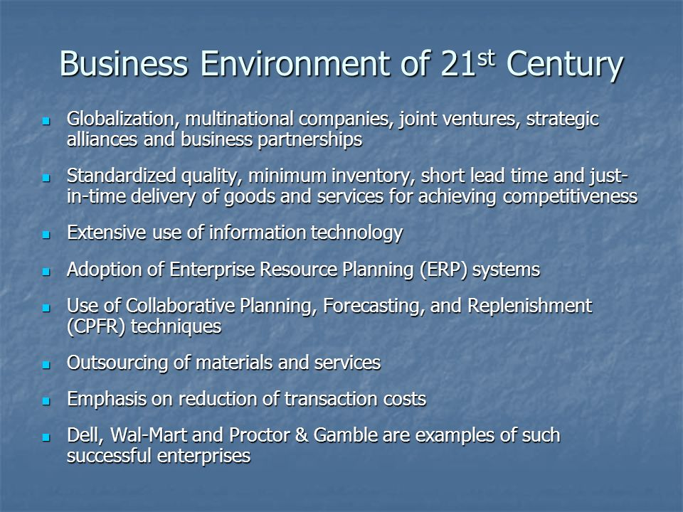 Business Environment of 21st Century