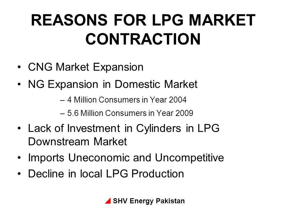 REASONS FOR LPG MARKET CONTRACTION