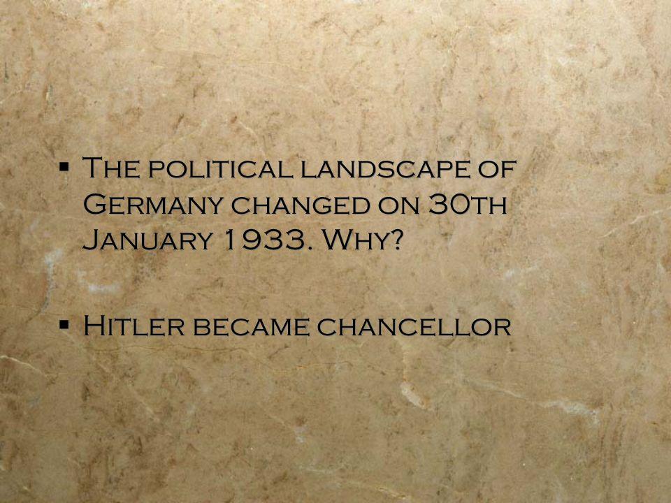 when did hitler become chancellor