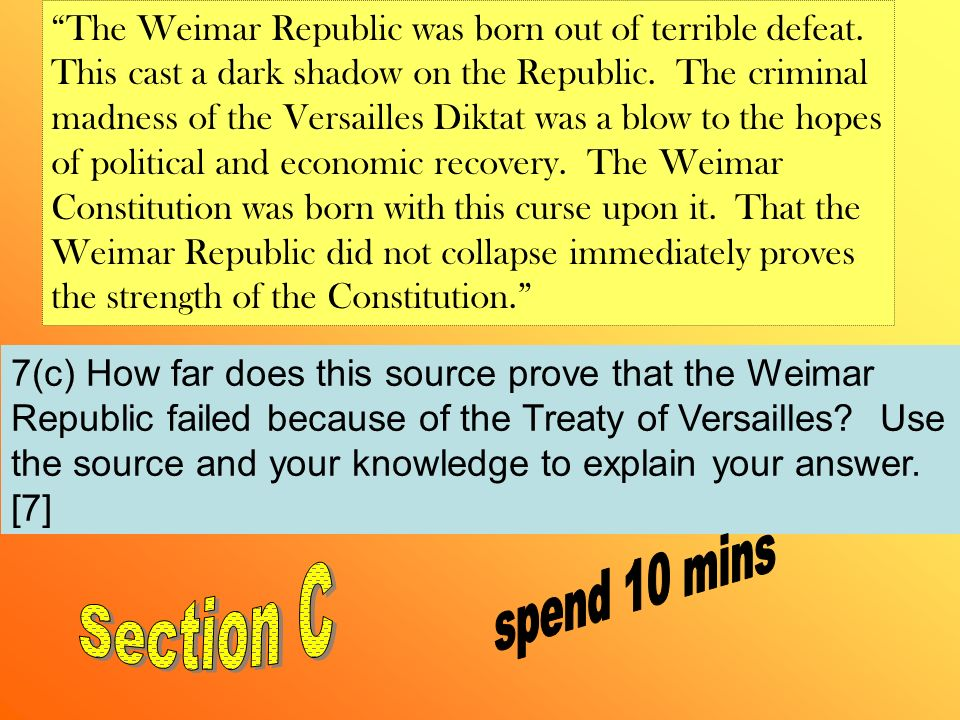 the weimar republic was failed from
