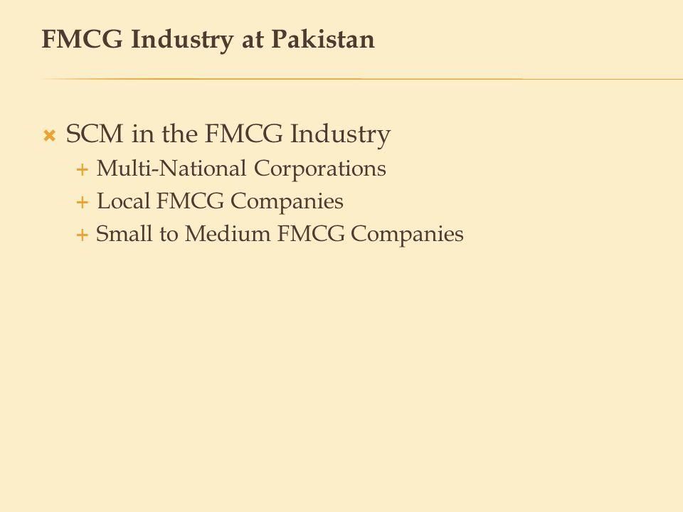 FMCG Industry at Pakistan