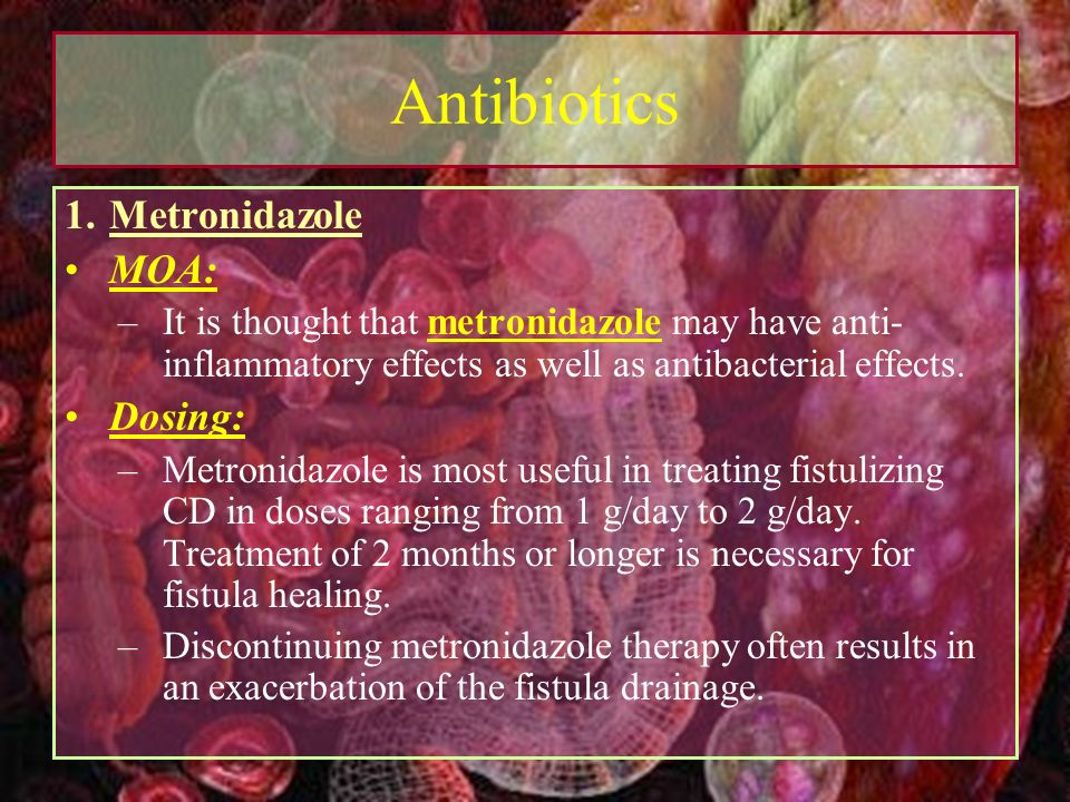 Metronidazole for rheumatic diseases