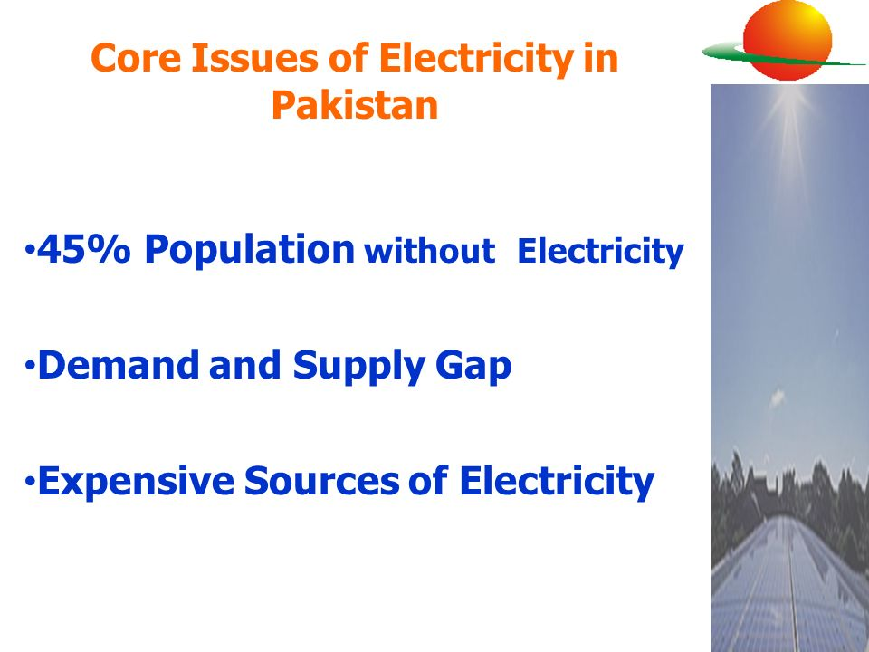 Core Issues of Electricity in Pakistan