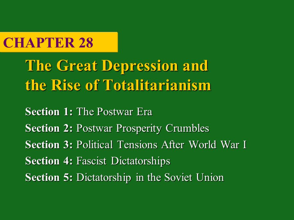 Chapter 28 the rise of totalitarianism section 1 2 essay