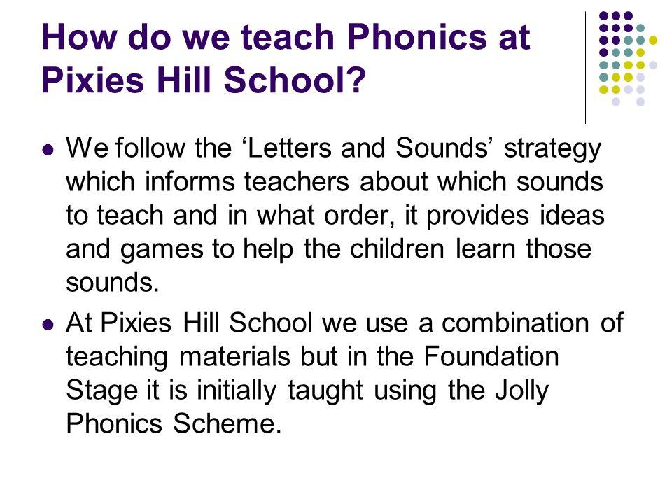 How Do We Teach Phonics At Pixies Hill School
