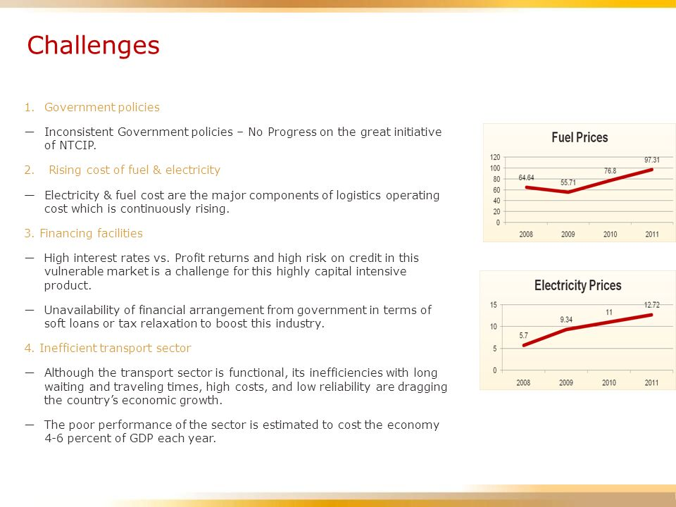 Challenges 1. Government policies