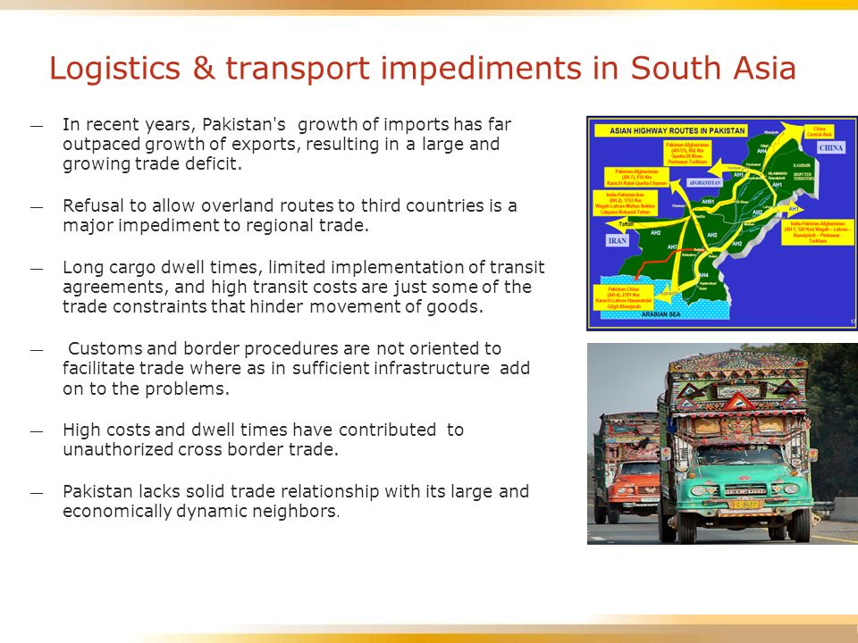 Logistics & transport impediments in South Asia