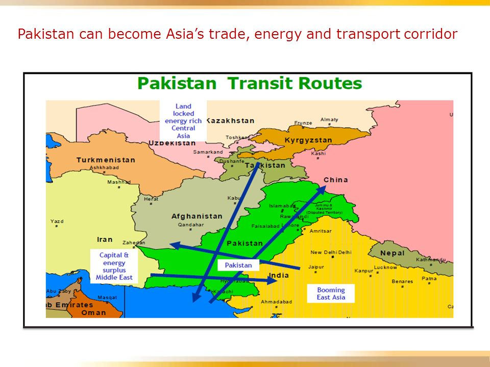 Pakistan can become Asia's trade, energy and transport corridor