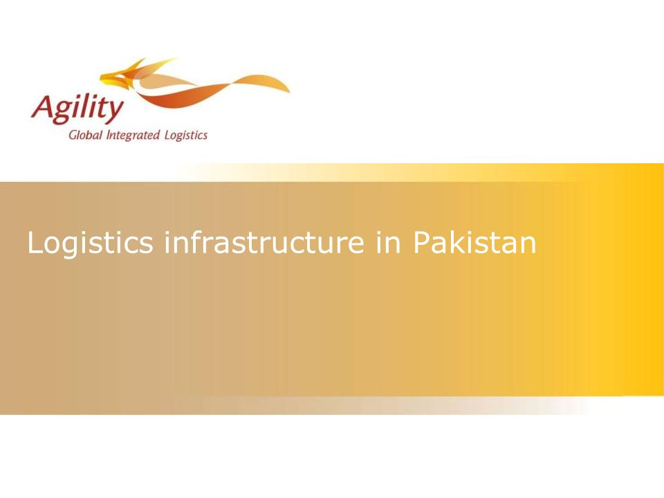 Logistics infrastructure in Pakistan