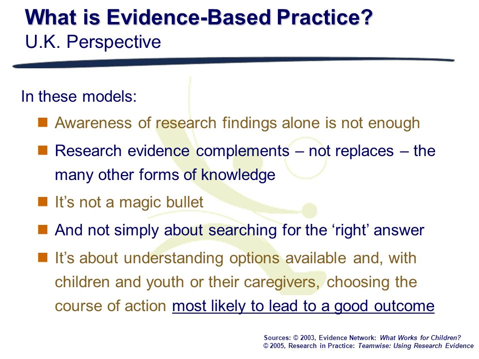 What is Evidence-Based Practice U.K. Perspective