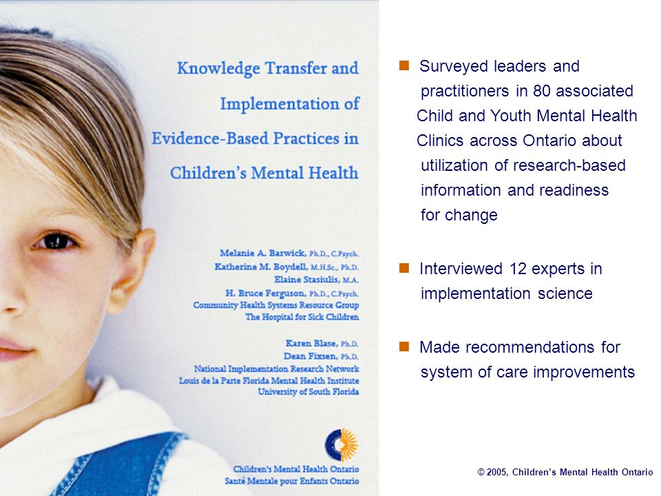 Interviewed 12 experts in implementation science