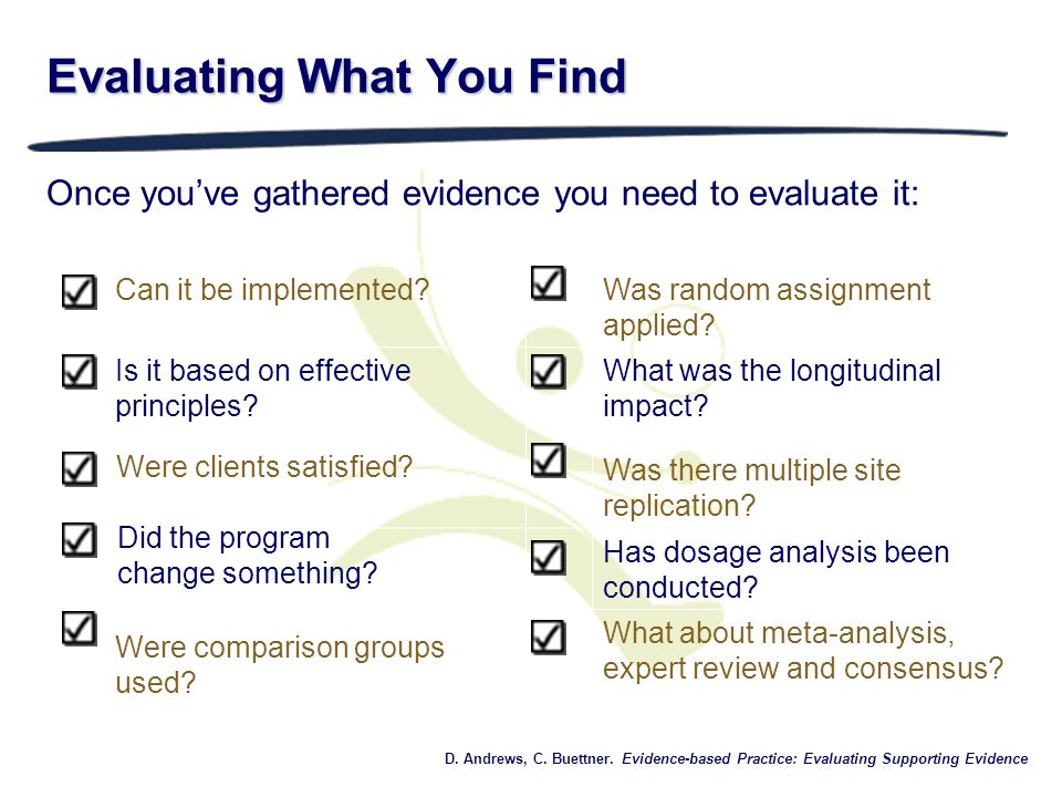 Evaluating What You Find