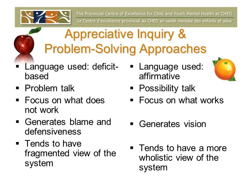 Appreciative Inquiry & Problem-Solving Approaches