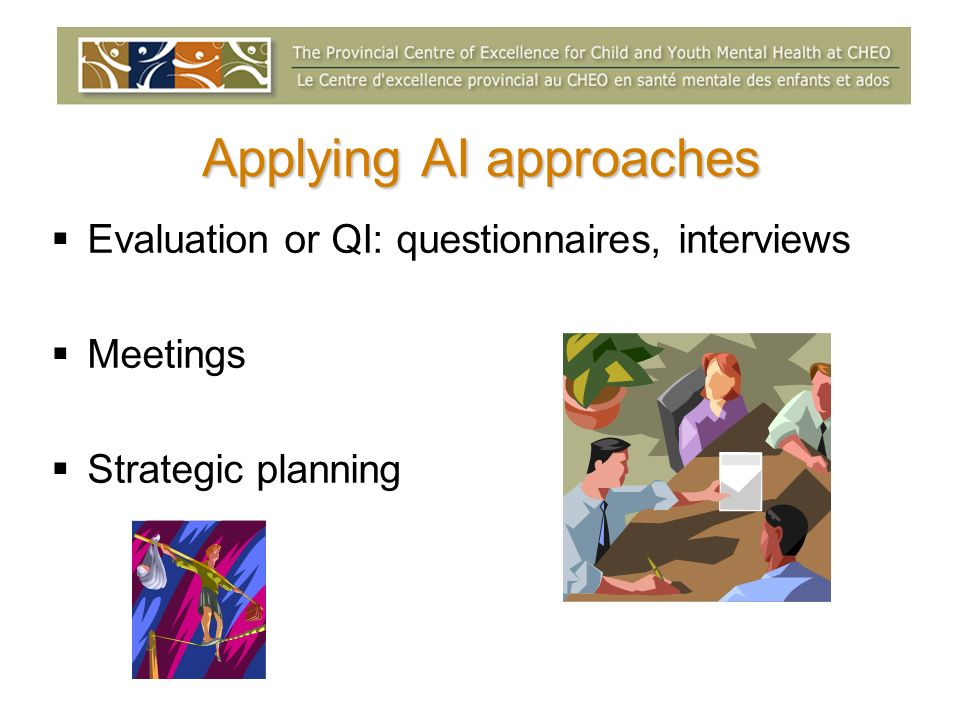 Applying AI approaches