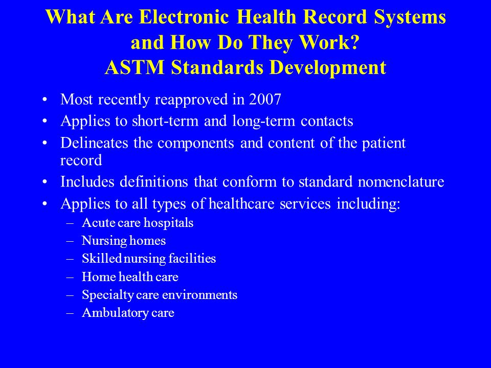 Electronic Health Records Ppt Download