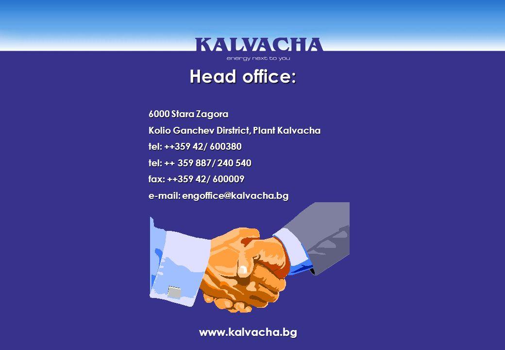Head office: www.kalvacha.bg 6000 Stara Zagora