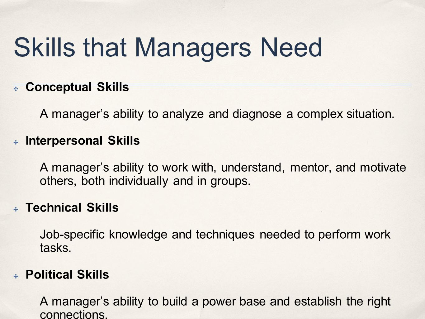 Skills that Managers Need