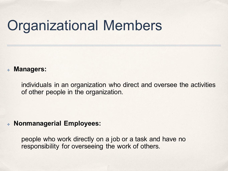 Organizational Members