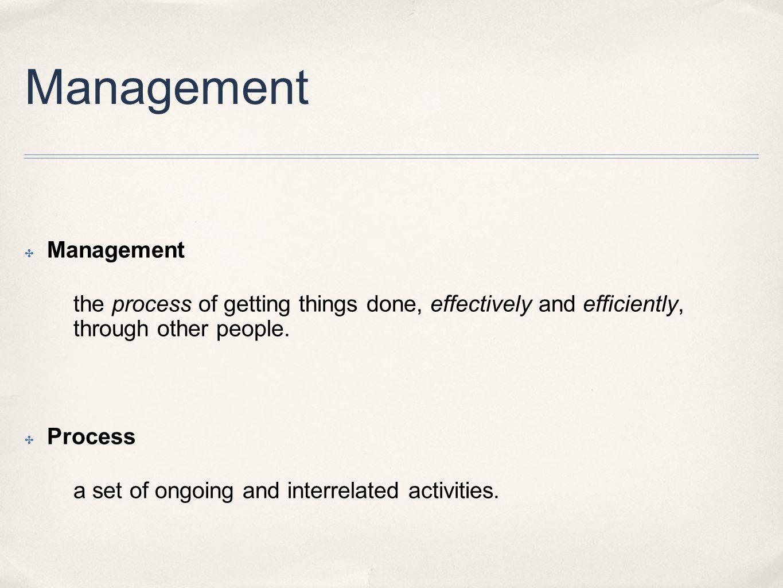 Management Management