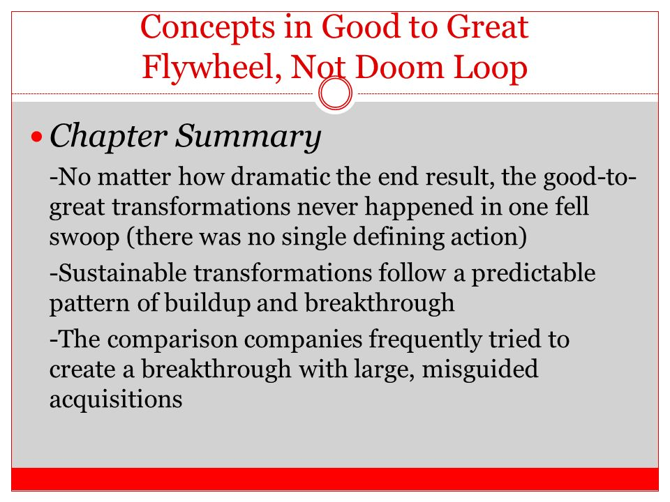 chapter summary for built to last These works included built to last chapter 4 6 notes: jim's twelve questions • reading: built to last, chapter 5.