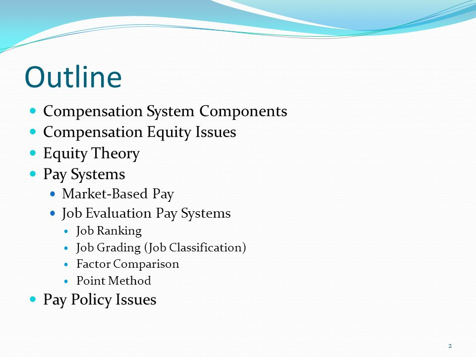 components of a compensation system Potential components of compensation for the ceo contract  the college or  system, the survey may be done regionally, state-wide or nationally the peer.