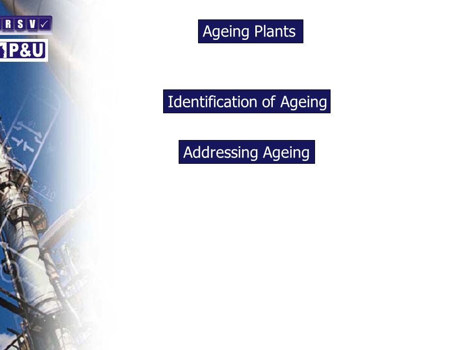 Ageing Plants n Identification of Ageing n Addressing Ageing n