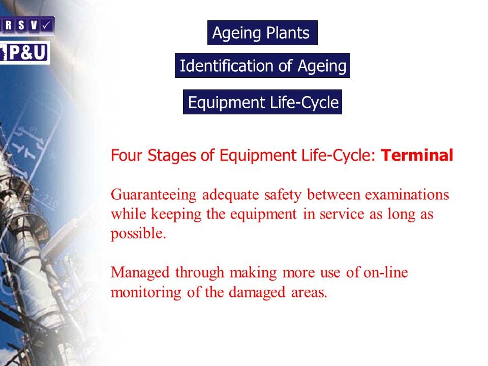 Ageing Plants n. Identification of Ageing. n. Equipment Life-Cycle. n. Four Stages of Equipment Life-Cycle: Terminal.