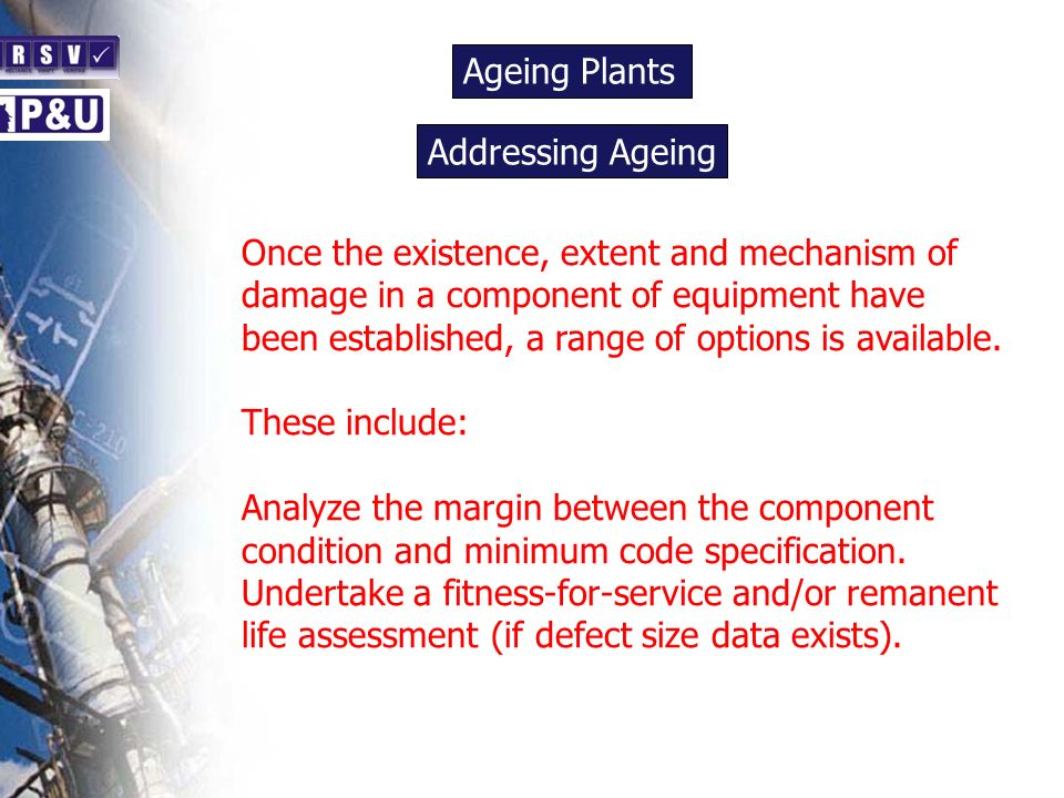 Ageing Plants n. Addressing Ageing. n.