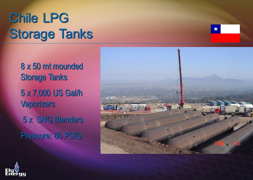 Chile LPG Storage Tanks