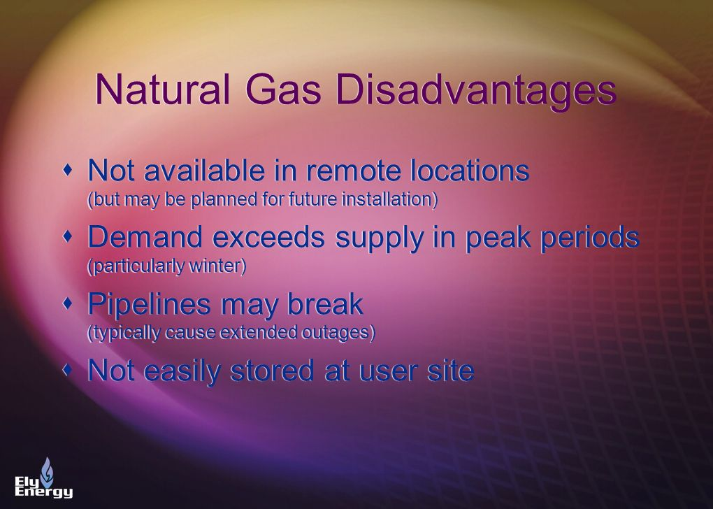 Natural Gas Disadvantages