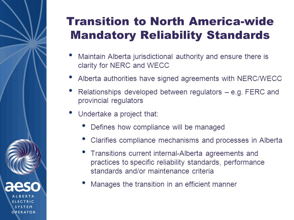 Transition to North America-wide Mandatory Reliability Standards